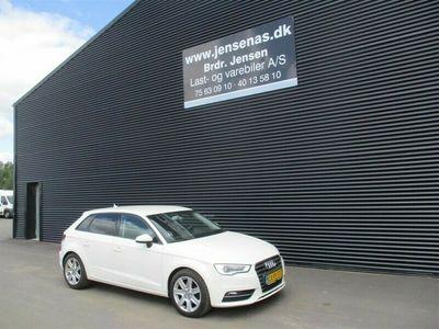 brugt Audi A3 Sportback 2,0 TDI Sport S Tronic 150HK Van 6g Aut. 2014