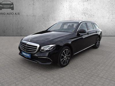brugt Mercedes E220 T 2,0 D 9G-Tronic 194HK Stc 9g Aut. - Personbil - Sortmetal