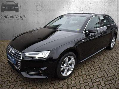 brugt Audi A4 Avant 2,0 TDI Sport Edition Plus S Tronic 150HK Stc 7g Aut. - Personbil - Sortmetal