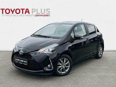 brugt Toyota Yaris Hybrid 1,5 B/EL Premium Safety Sense E-CVT 100HK 5d Trinl. Gear A++