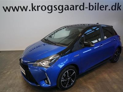 brugt Toyota Yaris 1,5 B/EL Flavour BLÅ E-CVT 100HK 5d