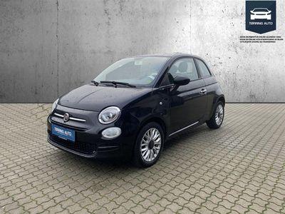 brugt Fiat 500 0,9 Popstar 80HK 3d - Personbil - Sortmetal