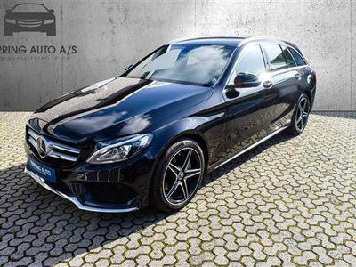 brugt Mercedes C200 T 2,0 AMG Line 7G-Tronic Plus 184HK Stc 7g Aut. - Personbil - sortmetal