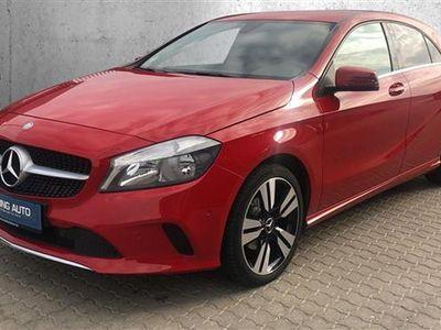 brugt Mercedes A180 d 1,5 CDI 7G-DCT 109HK 5d 7g Aut. - Personbil - Rød