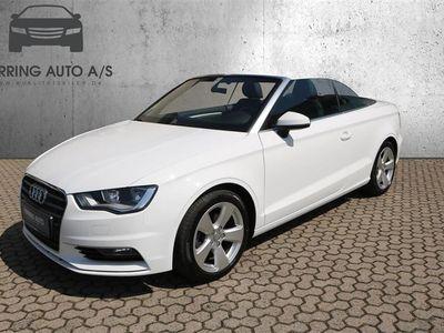 brugt Audi A3 Cabriolet 2,0 TDI Ambition 150HK 6g - Personbil - hvid