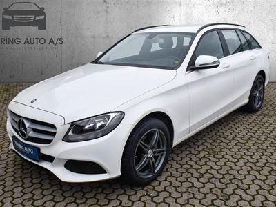 brugt Mercedes C200 T 1,6 Bluetec 136HK Stc 6g - Personbil - hvid