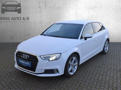 brugt Audi A3 Sportback 1,5 TFSI Sport S Tronic 150HK 5d 7g Aut. - Personbil - Hvid