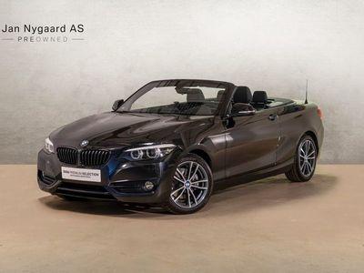 brugt BMW 220 i 2,0 Cabriolet Sport Line aut.