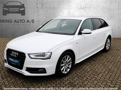brugt Audi A4 Avant 2,0 TDI Multitr. 150HK Stc Trinl. Gear - Personbil - hvid