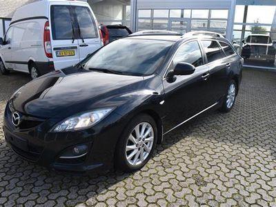 brugt Mazda 6 2,2 DE Mid Stationscar 163HK Stc - Personbil - sort