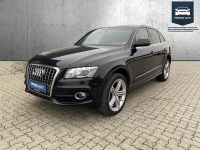 brugt Audi Q5 2,0 TDI DPF Quat S Tron 170HK 5d 6g Aut. - Personbil - Sort