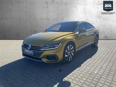 brugt VW Arteon 2,0 TSI R-Line Business DSG 190HK 5d 7g Aut. - Personbil - Guldmetal