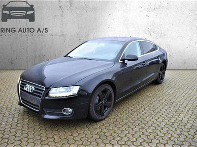 brugt Audi A5 Sportback 2,0 TDI 170HK 5d 6g - Personbil - sort