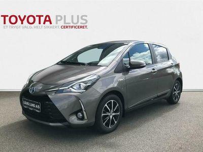 brugt Toyota Yaris 1,5 B/EL H3 Smartpakke E-CVT 100HK 5d Trinl. Gear A++