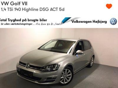 brugt VW Golf 1.4 TSI BMT 140 HK 4 DØRS DSG