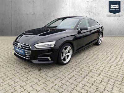 brugt Audi A5 Sportback 2,0 TFSI Sport S Tronic 190HK 5d 7g Aut. - Personbil - Sort