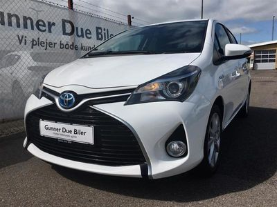brugt Toyota Yaris Hybrid 1,5 B/EL Premium Luks. Safety Sense E-CVT 100HK 5d Trinl. Gear