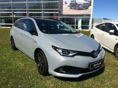 brugt Toyota Auris Touring Sports 1,8 Hybrid Selected Bi-tone 136HK Stc Aut.
