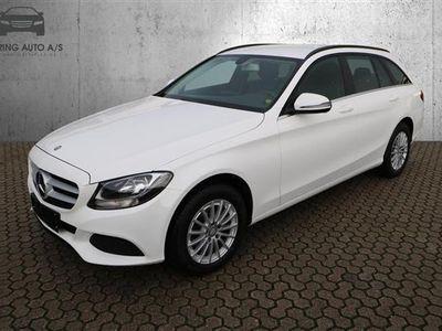 brugt Mercedes C200 T 1,6 D 136HK Stc 6g - Personbil - Hvid