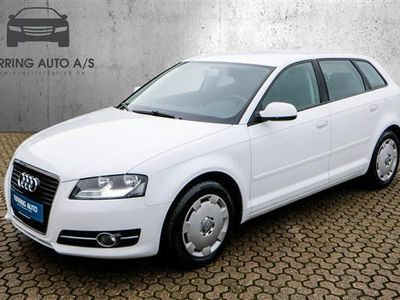 brugt Audi A3 Sportback 1,6 TDI DPF Ambiente 105HK Stc - Personbil - hvid