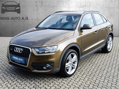 brugt Audi Q3 2,0 TDI Quattro 140HK 5d 6g - Personbil - brunmetal