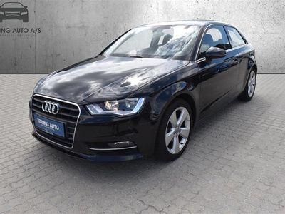 brugt Audi A3 1,4 TFSI Ambition 122HK 3d 6g - Personbil - Sortmetal