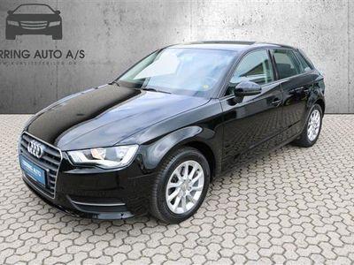 brugt Audi A3 Sportback 1,4 TFSI Attraction S Tronic 125HK Stc Aut. - Personbil - sortmetal