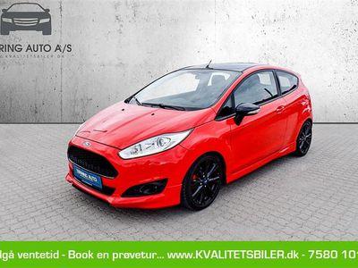 brugt Ford Fiesta 1,0 EcoBoost Red Edition Start/Stop 140HK 3d - Personbil - rød