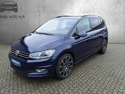 brugt VW Touran 1,4 TSI BMT Comfortline DSG 150HK 7g Aut. - Personbil - mørkblå - 7 pers.