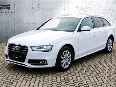 brugt Audi A4 Avant 2,0 TDI Multitr. 150HK Stc 8g Trinl. Gear - Personbil - hvid