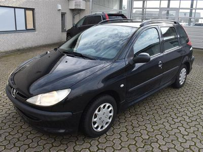 brugt Peugeot 206 SW 1,4 75HK Stc - Personbil - Sort