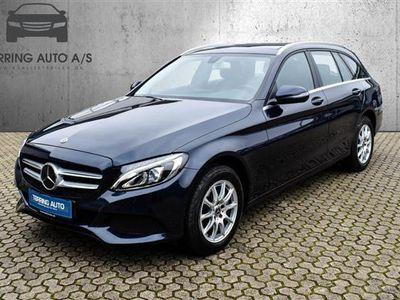 brugt Mercedes C220 T 2,1 Bluetec 9G-Tronic 170HK Stc 9g Aut. - Personbil - mørkblåmetal