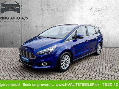 brugt Ford S-MAX 2,0 EcoBoost Titanium 240HK 6g Aut. - Personbil - Mørkblåmetal - 7 pers.