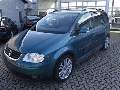 brugt VW Touran 1,6 Trendline 115HK 6g - Personbil - grønmetal - 7 pers.
