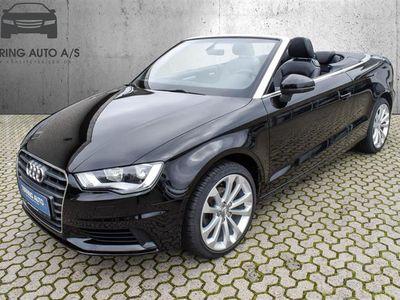 brugt Audi A3 Cabriolet 1,6 TDI Ambiente 110HK 6g - Personbil - sort