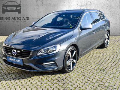 brugt Volvo V60 2,0 D4 R-design 190HK Stc 8g Aut. - Personbil - mørkgråmetal