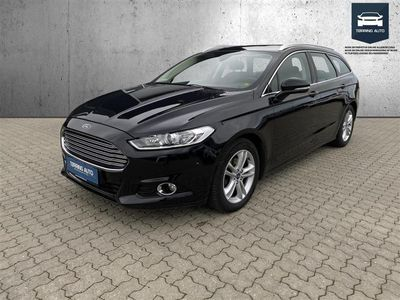 brugt Ford Mondeo 2,0 TDCi Titanium 180HK Stc 6g - Personbil - Sortmetal