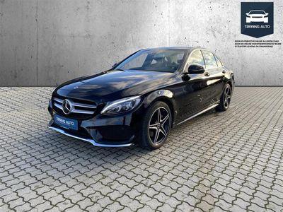 brugt Mercedes C200 2,0 Business 9G-Tronic 184HK 9g Aut. - Personbil - Sortmetal
