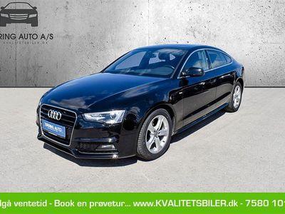 brugt Audi A5 Sportback 2,0 TDI 190HK 5d 6g - Personbil - Sortmetal