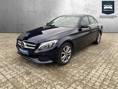 brugt Mercedes C220 d 2,1 D 7G-Tronic Plus 170HK Aut. - Personbil - Mørkblåmetal