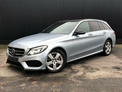 brugt Mercedes C220 d 2,2 AMG Line stc. aut. 4-M