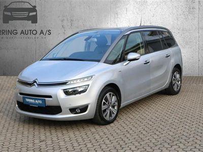 brugt Citroën Grand C4 Picasso 2,0 Blue HDi Exclusive EAT6 150HK 6g Aut. - Personbil - sølvmetal - 7 pers.