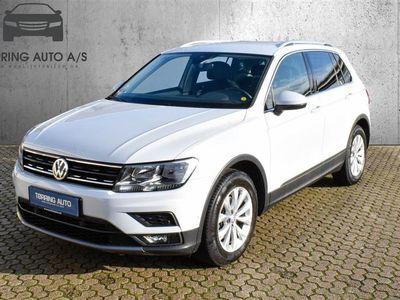 brugt VW Tiguan 2,0 TDI BMT SCR Comfortline DSG 150HK 5d 7g Aut. - Personbil - Hvid