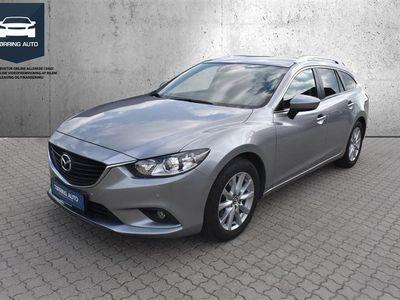 brugt Mazda 6 2,2 Skyactiv-D Vision 150HK Stc 6g - Personbil - Sølvmetal