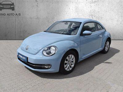 brugt VW Beetle 1,6 TDI Design 105HK 3d - Personbil - Lysblå