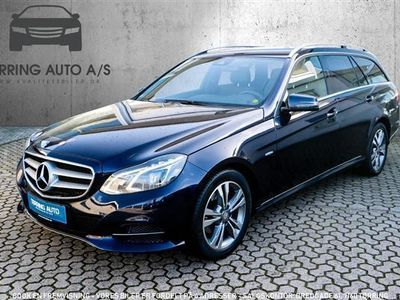 used Mercedes E220 2,1 Bluetec 9G-Tronic 170HK Stc 9g Aut. - Personbil - mørkblåmetal