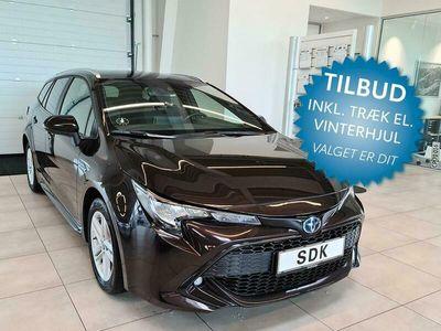 brugt Toyota Corolla Touring Sports 1,8 Hybrid H3 Smart E-CVT 122HK Stc Trinl. Gear