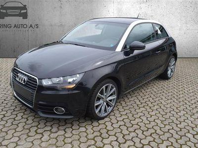 brugt Audi A1 1,2 TFSI Ambition 86HK 3d - Personbil - Sort