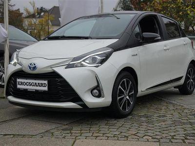 brugt Toyota Yaris 1,5 B/EL H3 Premiumpakke E-CVT 100HK 5d Trinl. Gea