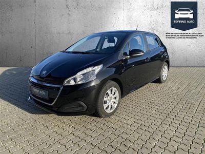 brugt Peugeot 208 1,2 PureTech Envy 82HK 5d - Personbil - Sort